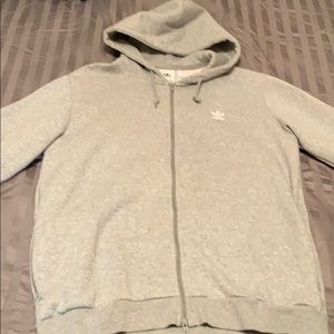 Adidas Zip up hoodie with logo on back